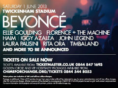 more photos 215a2 e5239 Beyonce, Florence Welch + More Set for June 1 Benefit Show